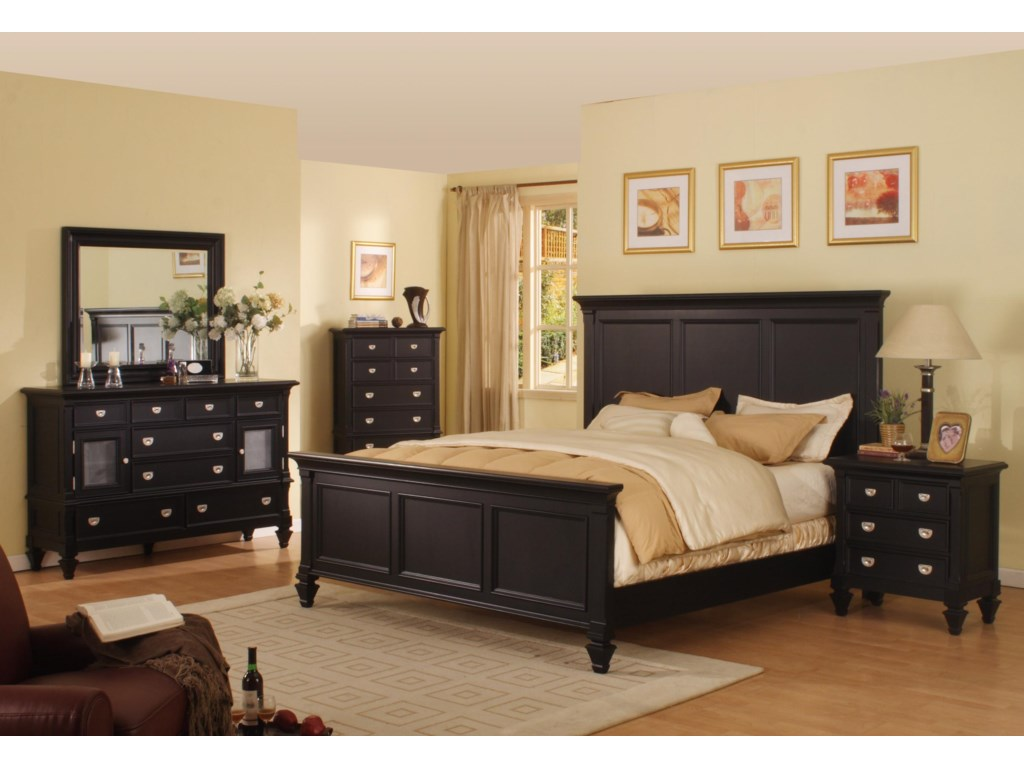 Shown with Panel Bed, Chest, Mirror and Nightstand