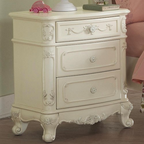 Homelegance 1386 Victorian 3 Drawer Nightstand