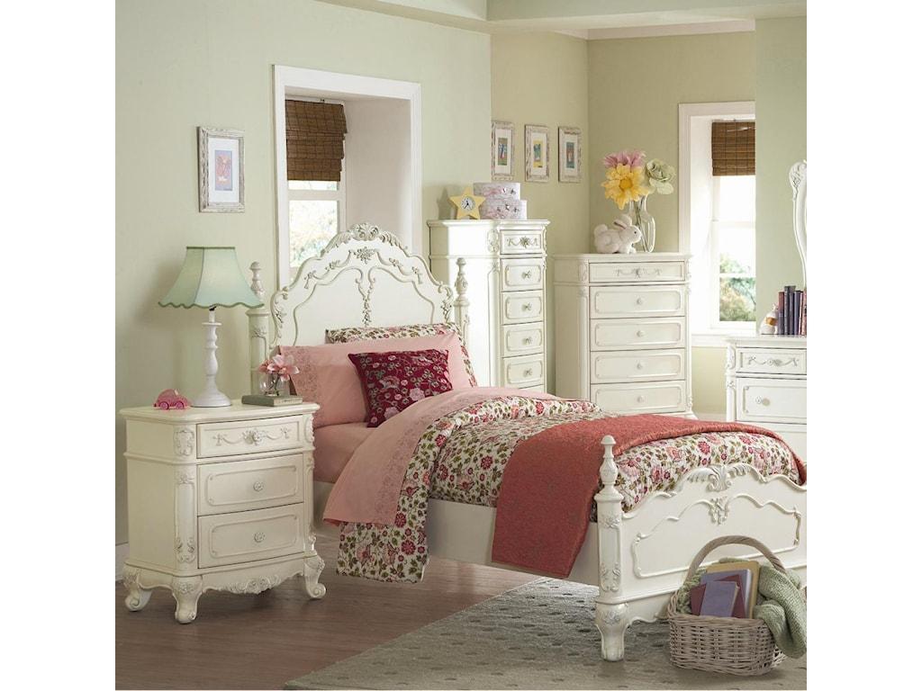 Nightstand Shown in Bedroom Setting