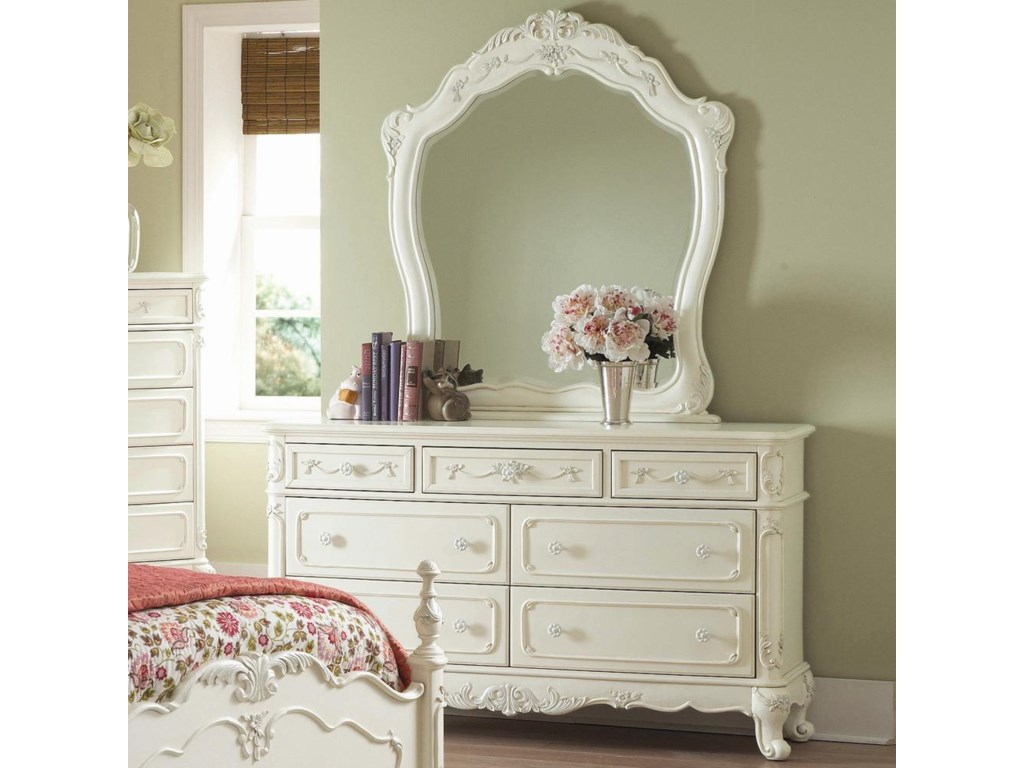 Homelegance 1386Dresser and Landscape Mirror
