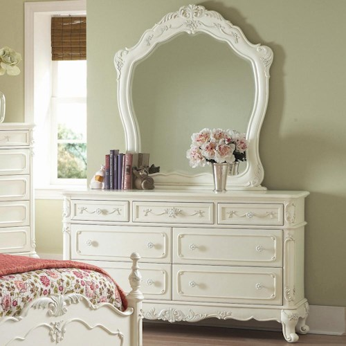 Homelegance 1386 Victorian Dresser and Mirror