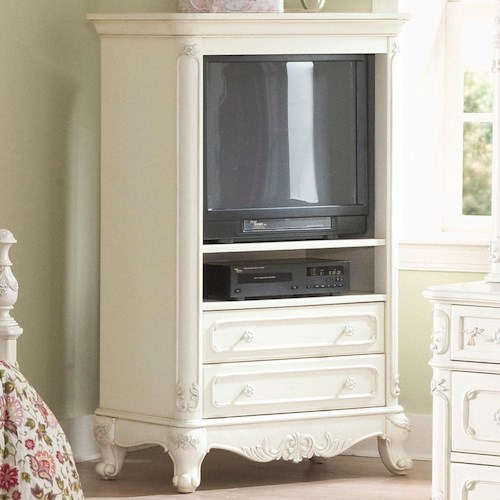 Homelegance (Clackamas Only) 1386 Small Armoire T.V. Unit