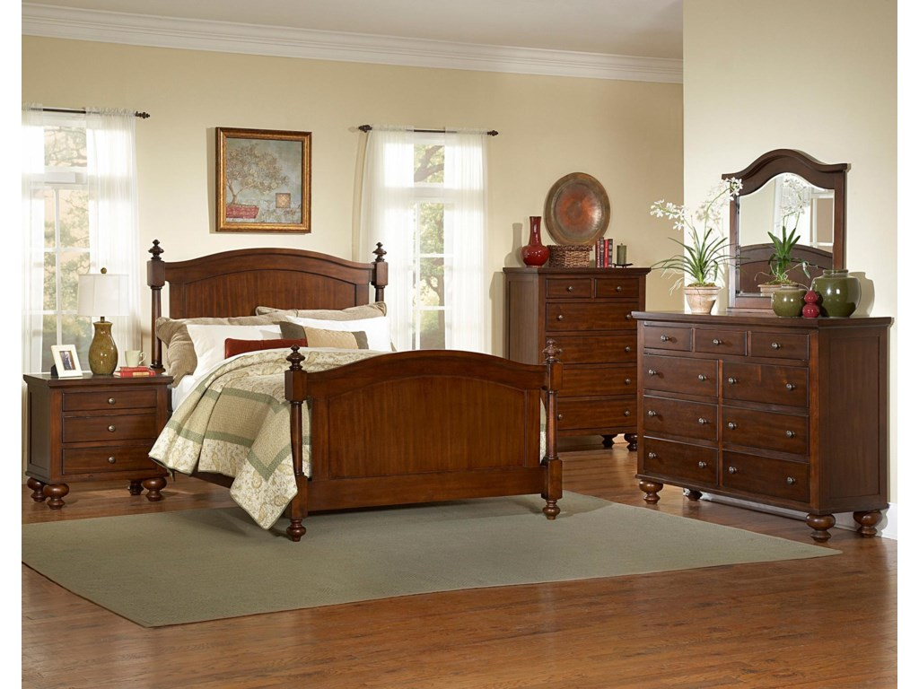 Shown with Coordinating Dresser with Mirror Combination, Bed, and Night Stand