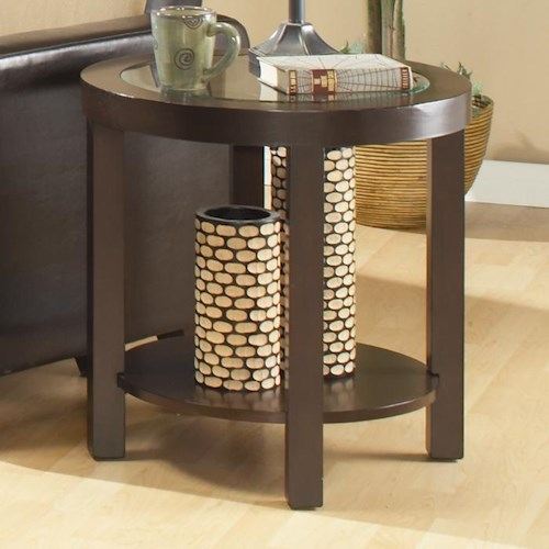 Homelegance 3219 Round End Table with 1 Shelf