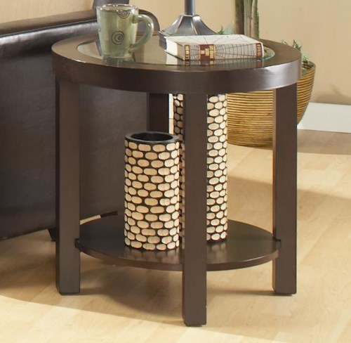 Homelegance (Clackamas Only) 3219 Round End Table with 1 Shelf