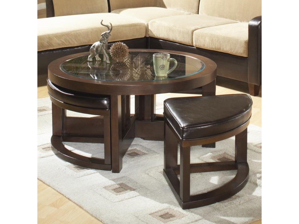 Homelegance 3219round Tail Table With 4 Ottomans