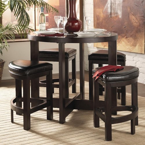 Homelegance 3219 5Pc Counter Height Dining Set