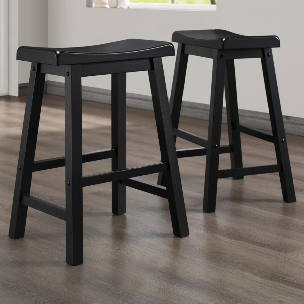 Homelegance 5302 24 Inch Stool With Curved Saddle Seat Value City