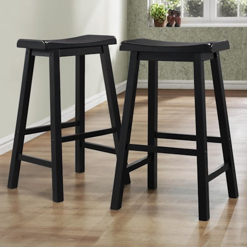 Homelegance 5302 29 Inch Stool with Curved Saddle Seat