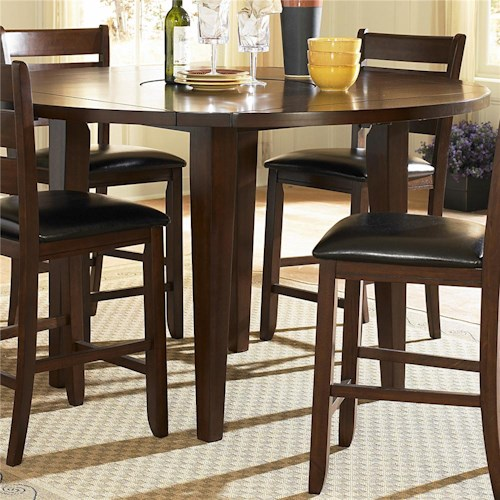 Homelegance Ameillia Round Counter Height Four Drop Leaf Table