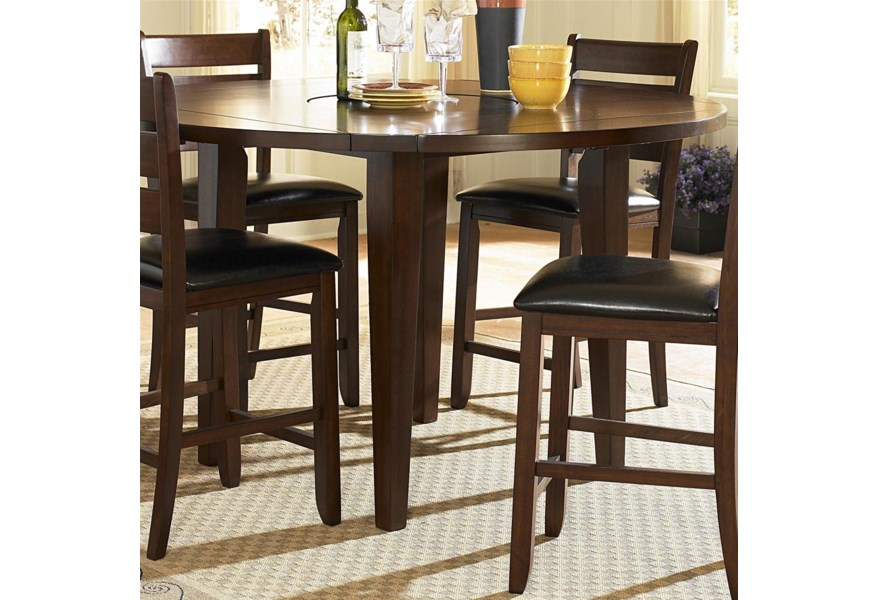Homelegance Ameillia Round Counter Height Four Drop Leaf Table Lindy S Furniture Company Pub Tables