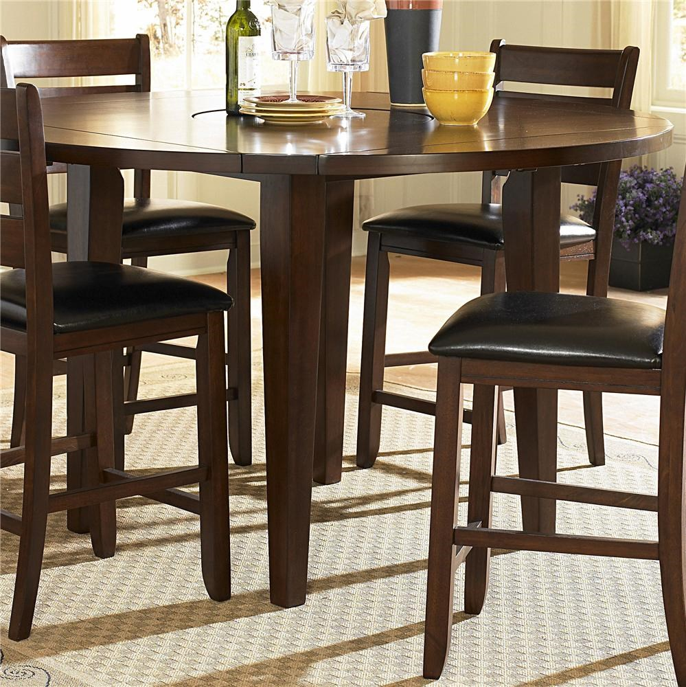 Homelegance AmeilliaRound Counter Height Drop Leaf Table ...