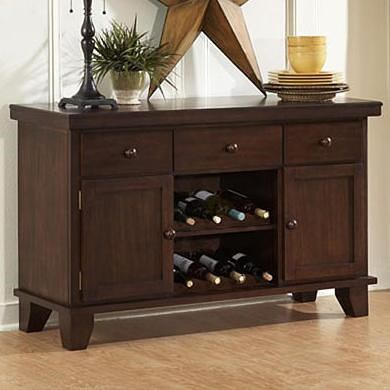 Homelegance Ameillia Server with Two Wine Racks