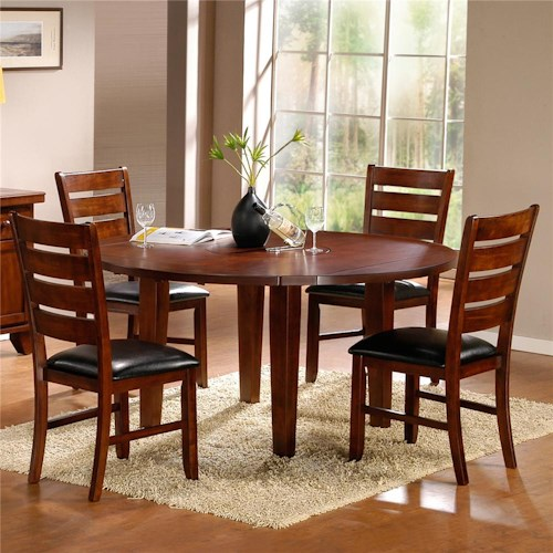 Homelegance 586 Five Piece Dining Set with Round Table