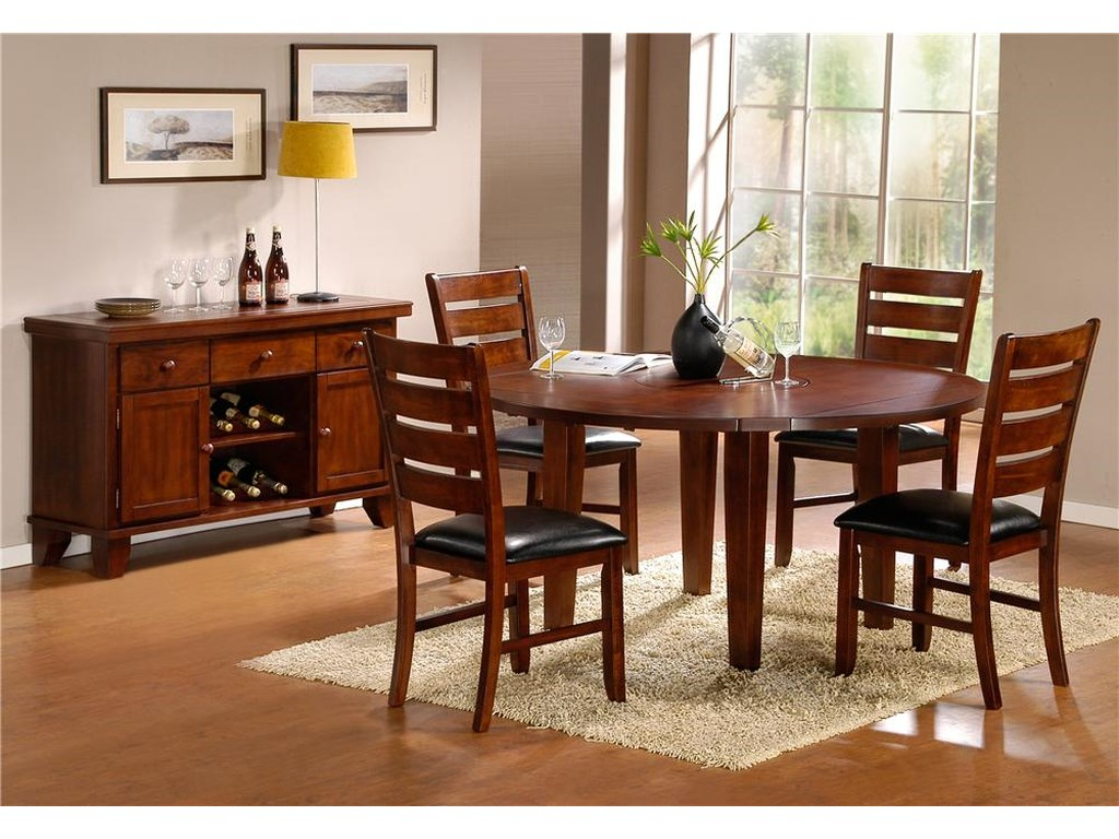 Elegance AmeilliaRound Drop Leaf Table