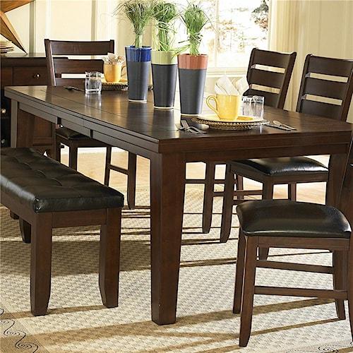 Homelegance Ameillia Rectangular Dining Table, Dark Oak Finish
