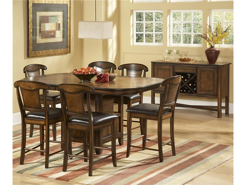 Shown with Seven Piece Counter Height Table and Chairs
