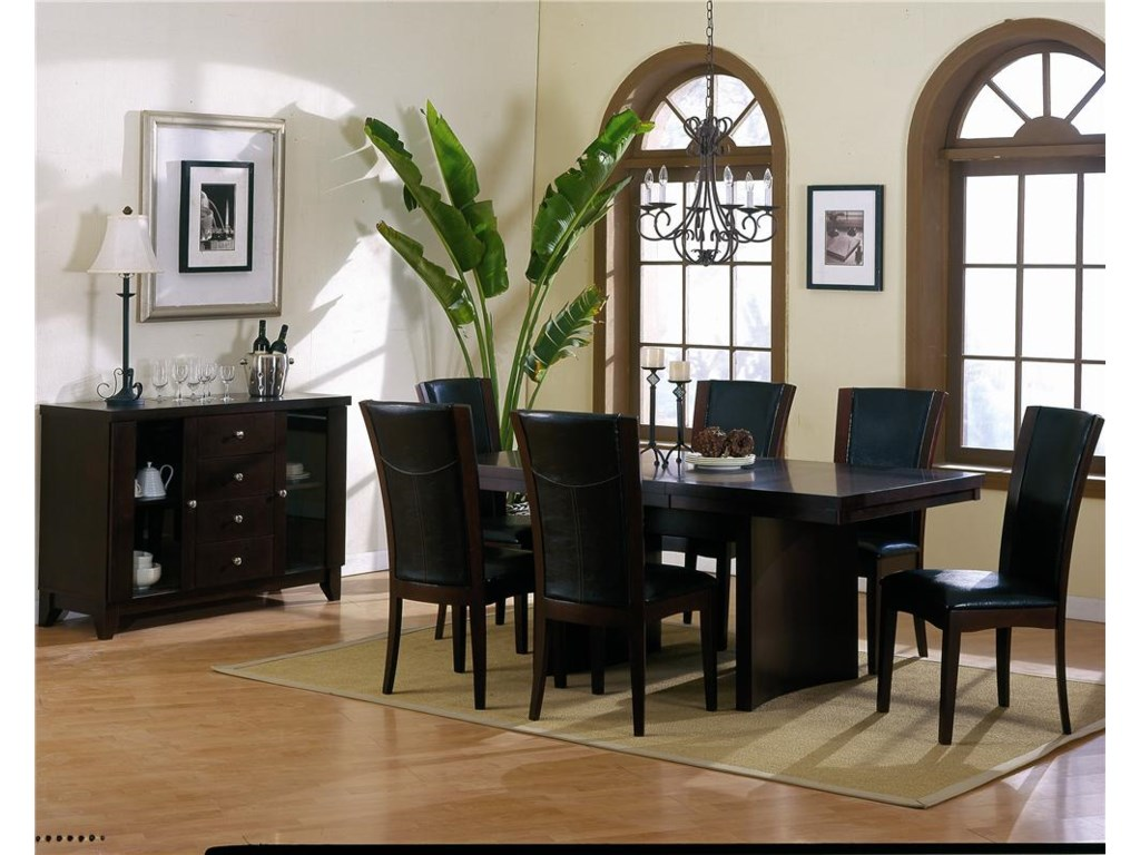 Shown With Rectangular Trestle Table and Side Chairs