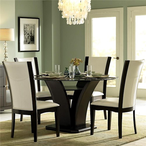 Homelegance 710 5 Piece Semi-Formal Dining Set