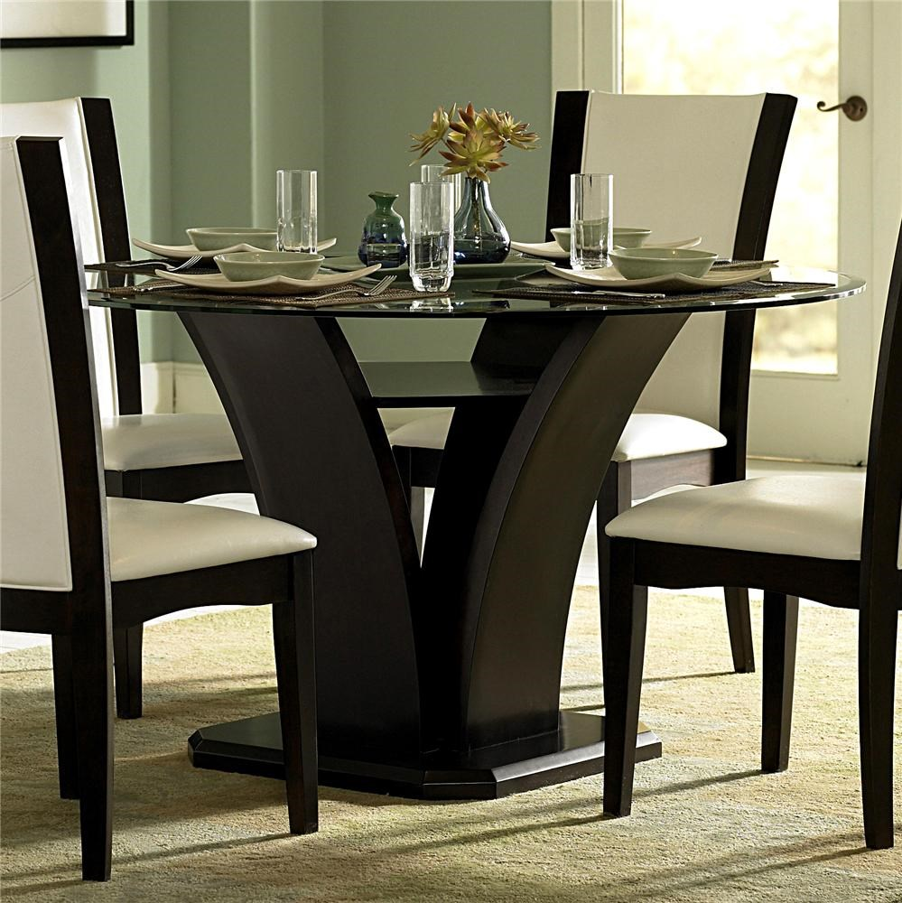 Homelegance 710 Round Glass Trestle Dining Table Value  : products2Fhomeelegance2Fcolor2F710710 54 bjpgscalebothampwidth500ampheight500ampfsharpen25ampdown from www.valuecitynj.com size 500 x 500 jpeg 67kB