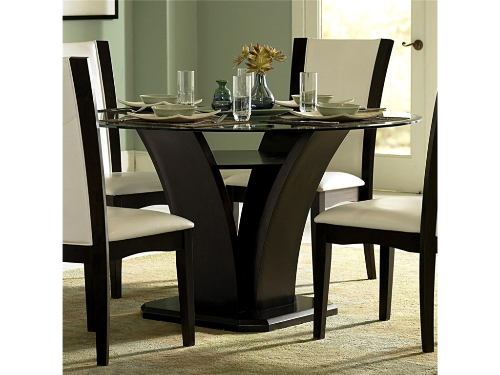 Homelegance 710Round Trestle Dining Table