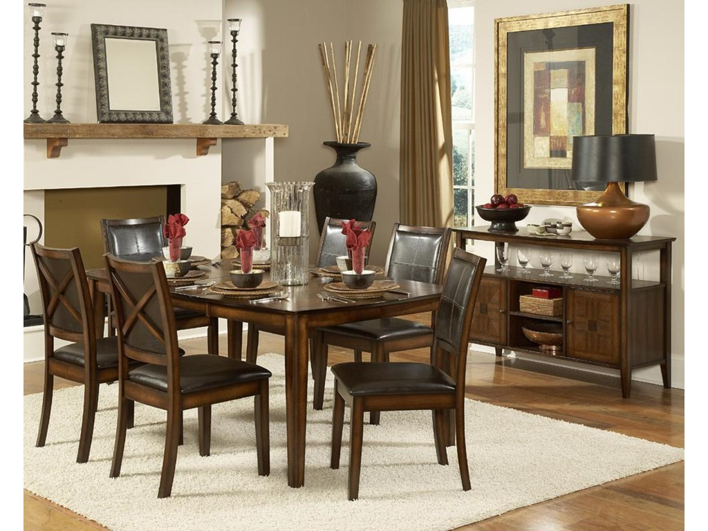 Shown as part of formal dining set with sideboard