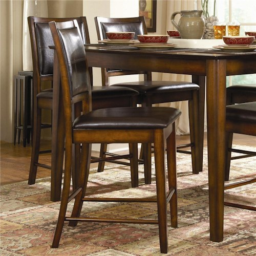 Homelegance Verona X-Back Counter Stool with Faux Leather Back and Seat