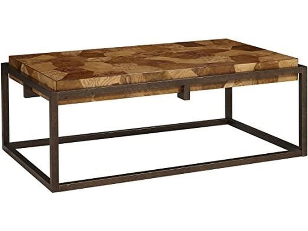 Home Insights RavennaBurl Wood Cocktail Table