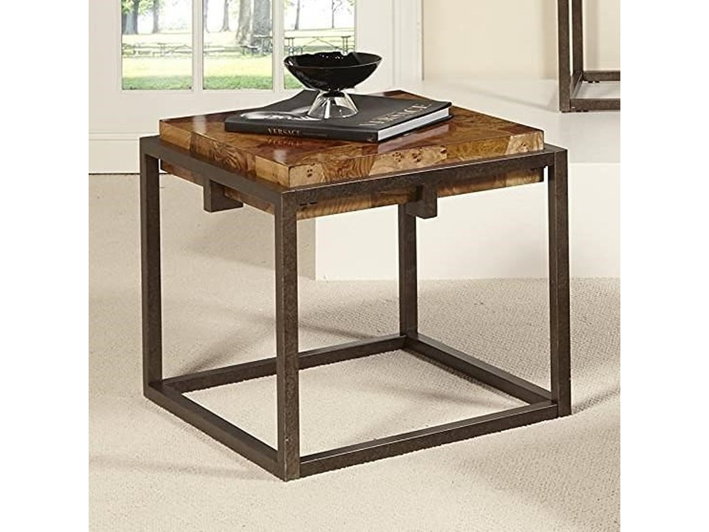 Home Insights RavennaBurl Wood End Table