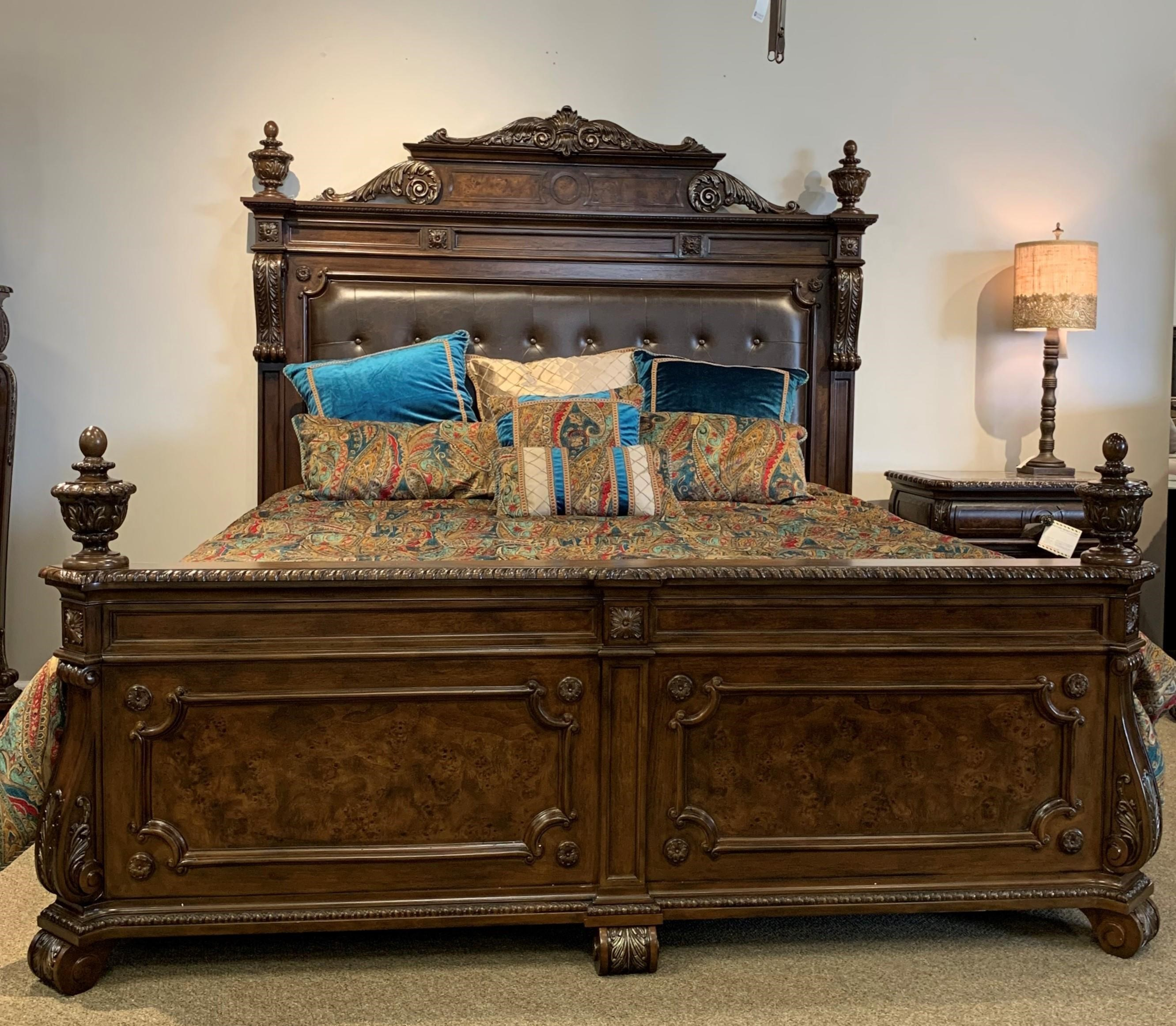 Home Insights B2161 King Leather Tufted Headboard And Footboard Howell Furniture Panel Beds