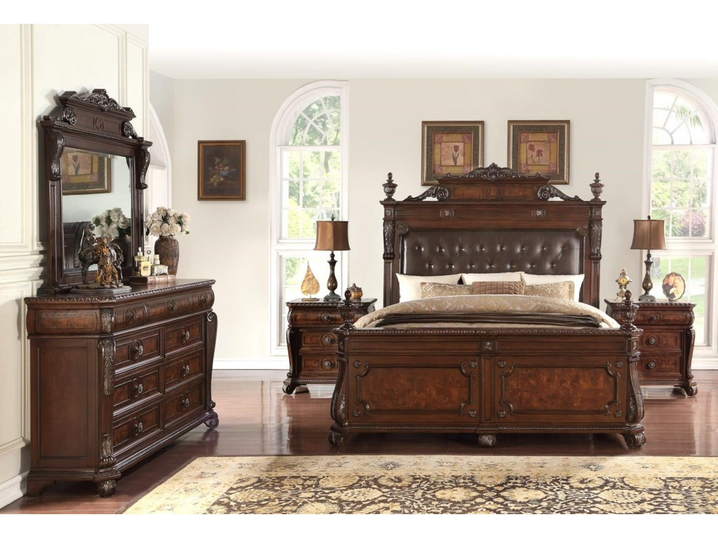 Home Insights VintageKing 5 Piece Bedroom Group