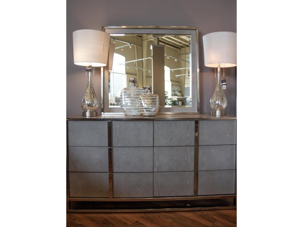 Home Insights Grand LoftQueen Bed, Dresser, Mirror & Nightstand