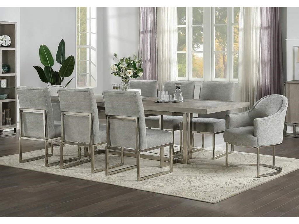 Home Insights Grand LoftTrestle Table & Six Side Chairs