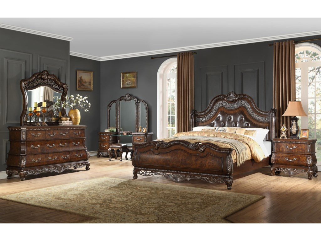 Home Insights BaliQueen Upholstered Sleigh Bed