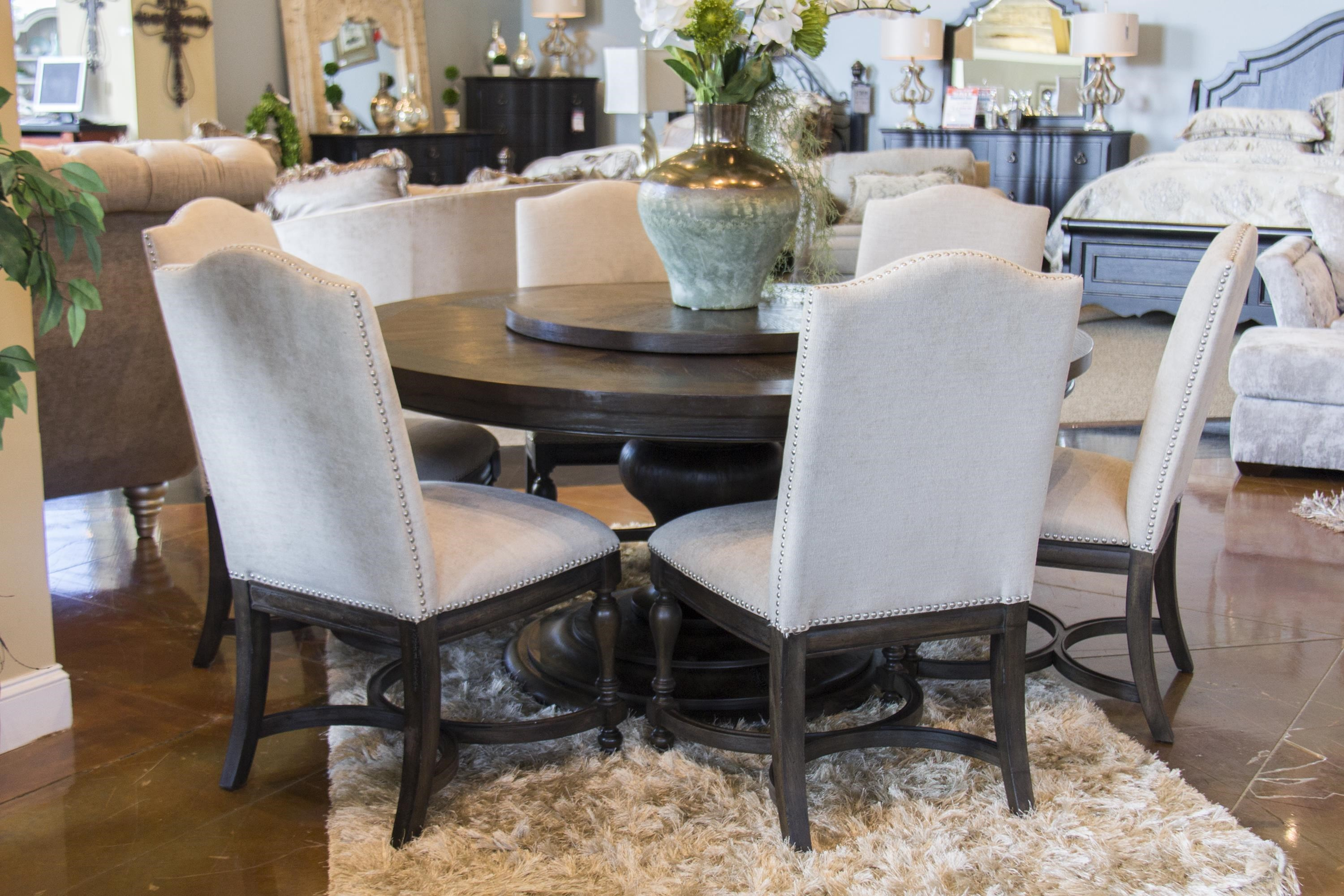 Genial Home Insights VenetianRound Dining Table U0026 6 Upholstered Chairs