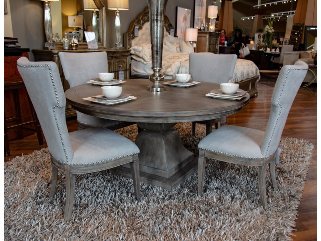 Home Insights ManhattanPedestal Table & 4 Chairs