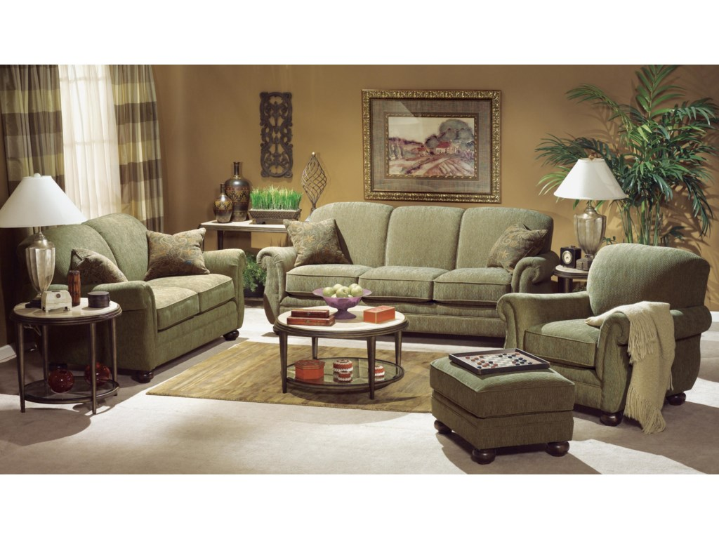 Shown with Sofa, Ottoman and Chair