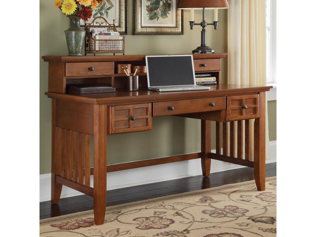 Home Styles Arts and CraftsExecutive Desk and Hutch