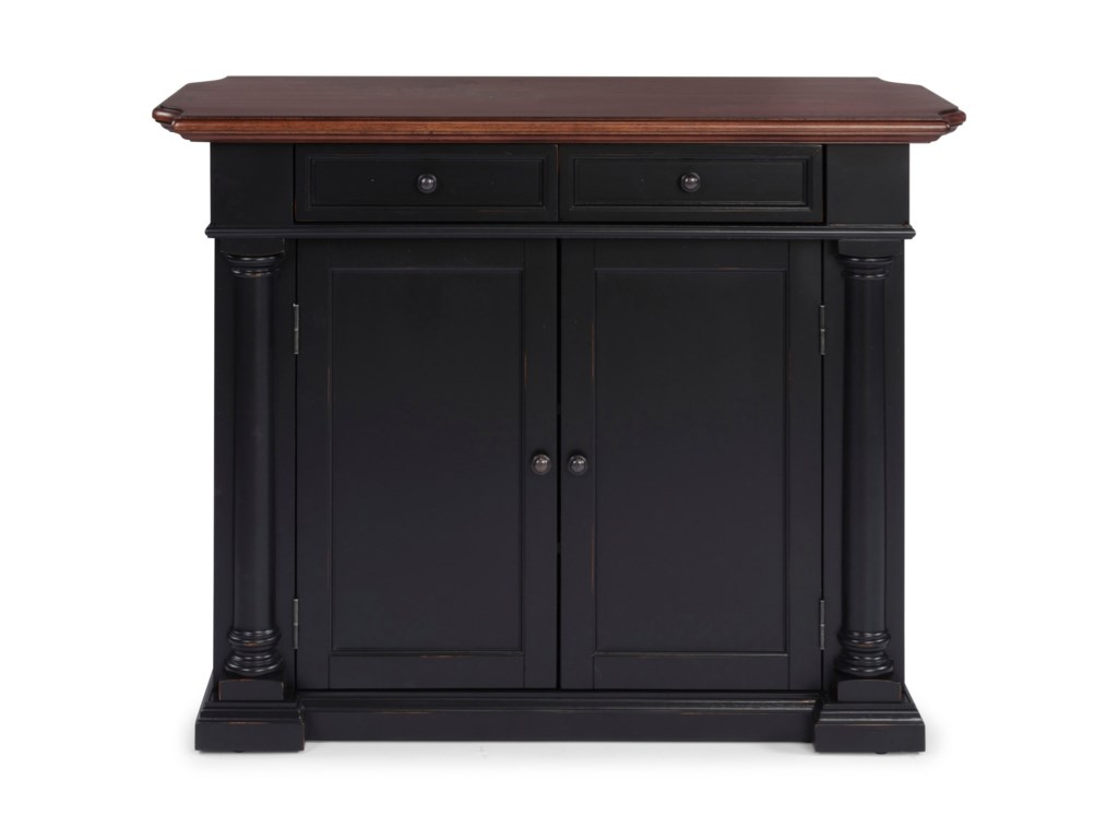 Homestyles Beacon Hill 5103 94 Transitional Kitchen Island With Drop Leaf Sam Levitz Furniture Kitchen Islands