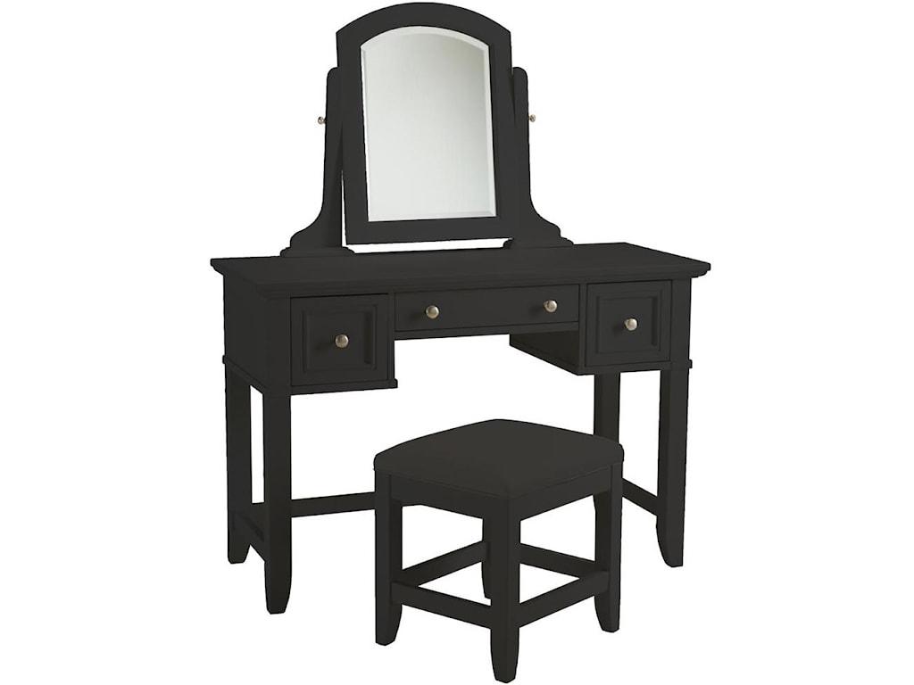 Home Styles BedfordBlack Vanity and Bench