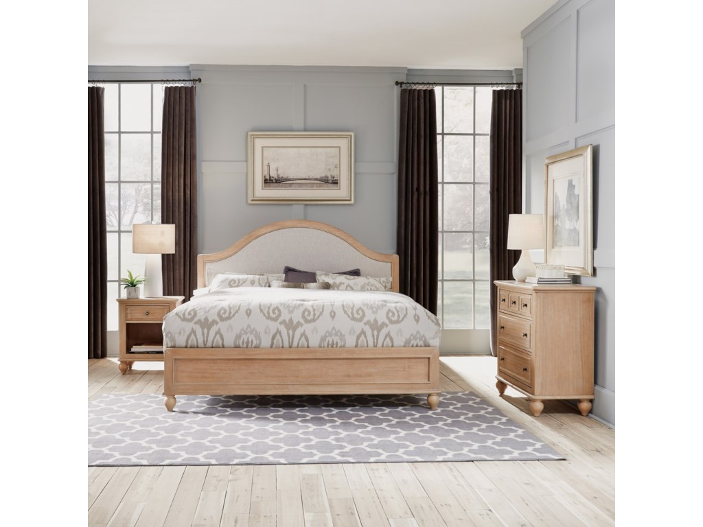 Homestyles CambridgeKing Bed, Nightstand & Chest