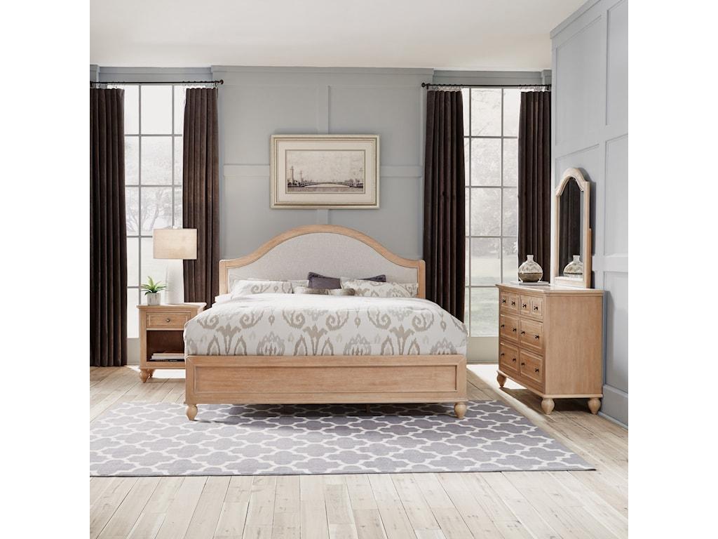 Homestyles CambridgeKing Bed, Nightstand, Dresser & Mirror