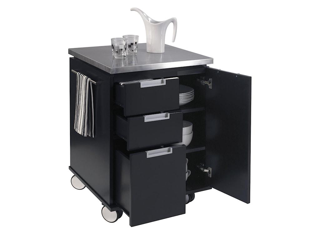 Home Styles Kitchen Carts Modern Kitchen Storage Cart with ...