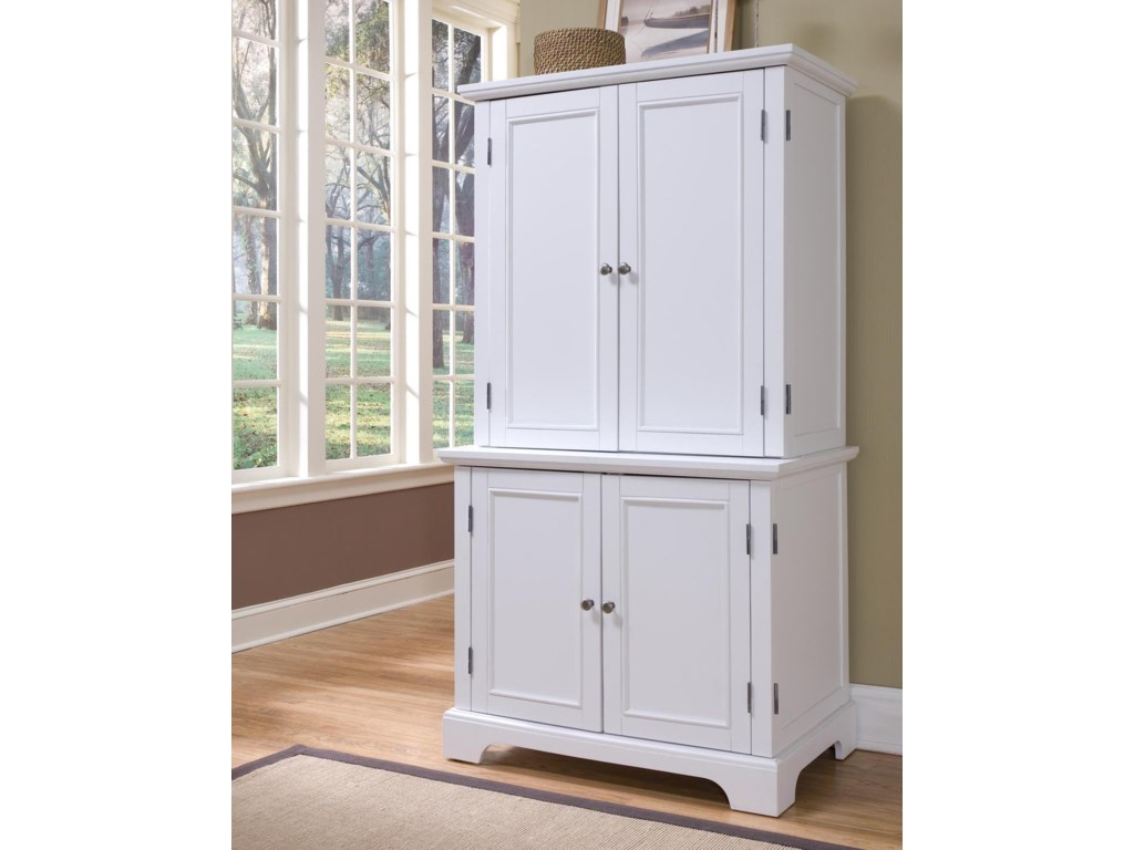 Home Styles Naples Compact Office Cabinet with Hutch