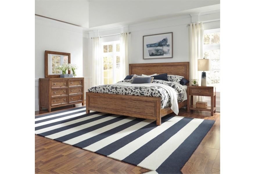 Homestyles Sedona Traditional King Bed Ruby Gordon Home Panel Beds