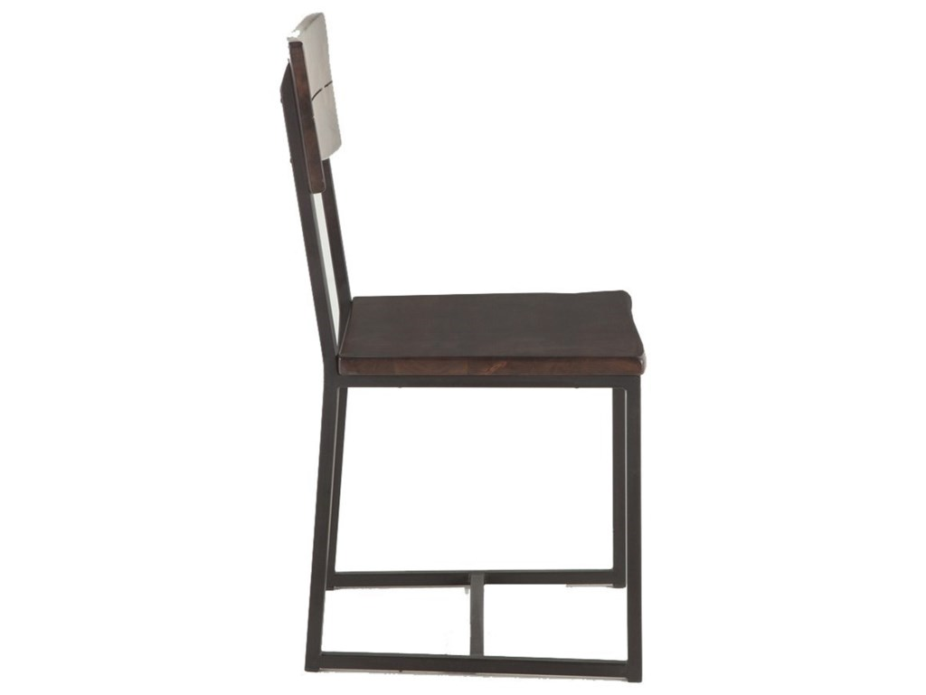 BeGlobal AspenFaux Live-Edge Dining Chair