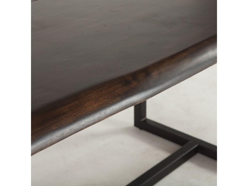 BeGlobal AspenFaux Live-Edge Dining Table