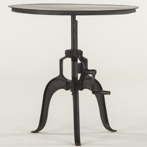 BeGlobal Industrial Loft Metal Round Adjustable Base Table