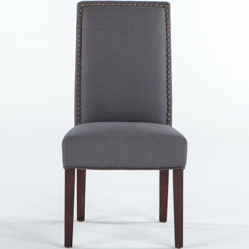 BeGlobal Meridian Dining Side Chair with Nail Head Trim