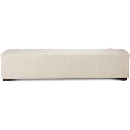 81 Inch Linen Bench